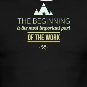 The beginning is the most important part - Men's Ringer T-Shirt