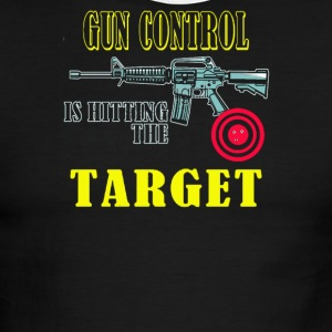 Gun Control is hitting the target - Men's Ringer T-Shirt
