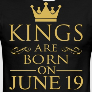 Kings are born on June 19 - Men's Ringer T-Shirt