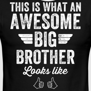 This is what an awesome big brother looks like - Men's Ringer T-Shirt