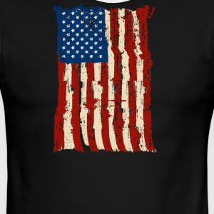 4th of July Independence Celebration American Flag - Men's Ringer T-Shirt