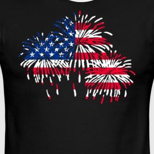 firework american flag t-shirt - Men's Ringer T-Shirt