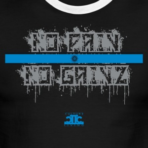 No Pain No Gainz Blue - Men's Ringer T-Shirt