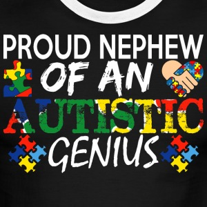 Proud Nephew Of An Autistic Genius Awareness - Men's Ringer T-Shirt