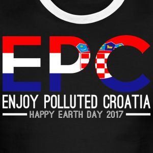 EPC Enjoy Polluted Croatia Happy Earth Day 2017 - Men's Ringer T-Shirt