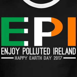 EPI Enjoy Polluted Ireland Happy Earth Day 2017 - Men's Ringer T-Shirt
