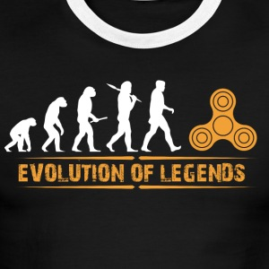 Fidget Spinner - Evolution of Legends - Men's Ringer T-Shirt