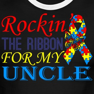 Rockin The Ribbon For My Uncle Awareness - Men's Ringer T-Shirt
