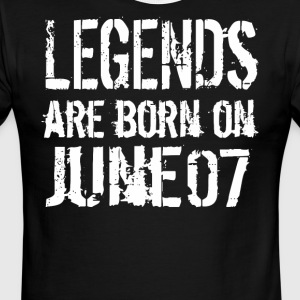 Legends are born on June 07 - Men's Ringer T-Shirt