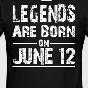 Legends are born on June 12 - Men's Ringer T-Shirt