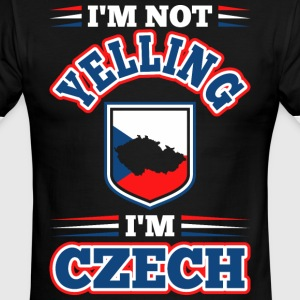Im Not Yelling Im Czech - Men's Ringer T-Shirt