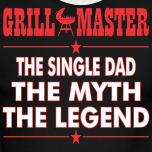 Grillmaster The Single Dad The Myth The Legend BBQ - Men's Ringer T-Shirt