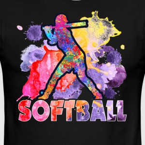 SOFTBALL TEE SHIRT - Men's Ringer T-Shirt