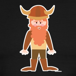 Cute Cartoon Viking - Men's Ringer T-Shirt