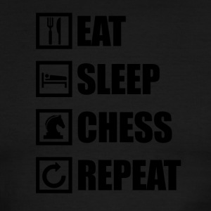 EAT SLEEP CHESS REPEAT - Men's Ringer T-Shirt