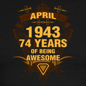 April 1943 74 Years of Being Awesome - Men's Ringer T-Shirt