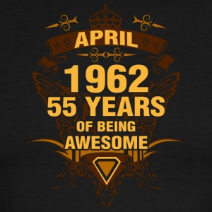 April 1962 55 Years of Being Awesome - Men's Ringer T-Shirt