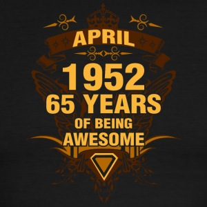 April 1952 65 Years of Being Awesome - Men's Ringer T-Shirt