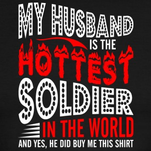 My Husband Is The Hottest Soldier - Men's Ringer T-Shirt