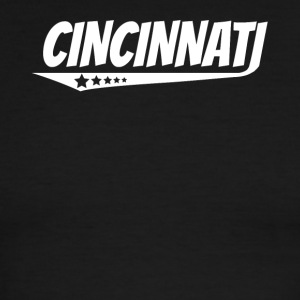 Cincinnati Retro Comic Book Style Logo - Men's Ringer T-Shirt
