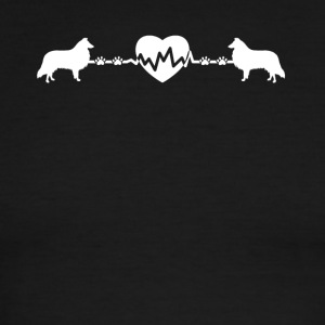 Sheltie Heartbeat Shirt - Men's Ringer T-Shirt