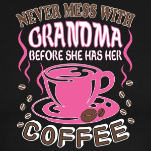 Never Mess With Grandma T Shirt - Men's Ringer T-Shirt