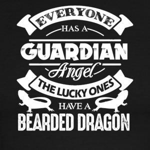 The Lucky One Has Beard Dragon Shirt - Men's Ringer T-Shirt