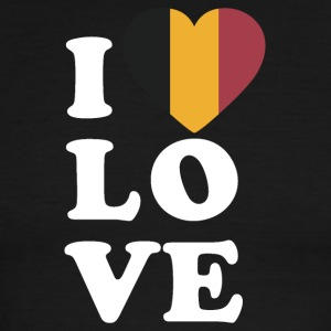 I love Belgium - Men's Ringer T-Shirt