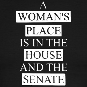 A woman's place is in the house shirt - Men's Ringer T-Shirt
