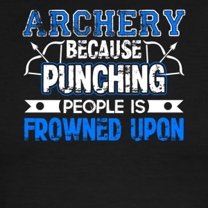 Archery Because Punching People is Frowned Upon - Men's Ringer T-Shirt
