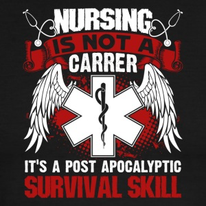 Nursing is a Survival Skill Shirt - Men's Ringer T-Shirt
