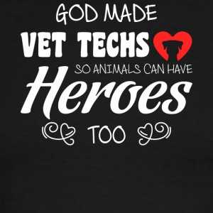 God Made Vet Techs T Shirt - Men's Ringer T-Shirt