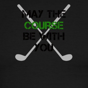 May the course be with you - Men's Ringer T-Shirt