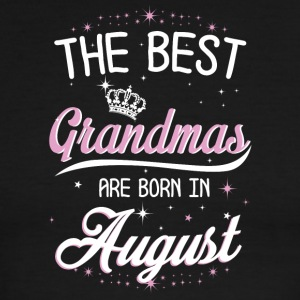 The best grandmas are born in August - Men's Ringer T-Shirt