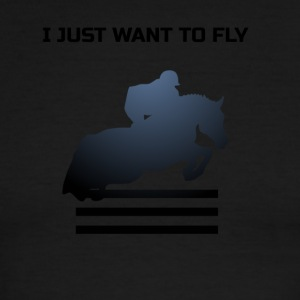 WANT TO FLY - Men's Ringer T-Shirt