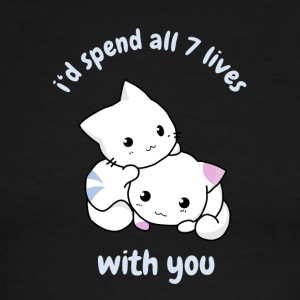 cat with you kitty love baby cute allways anime ma - Men's Ringer T-Shirt