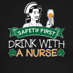 07 SAFETY FIRST DRINK WITH A NURSE - Men's Ringer T-Shirt