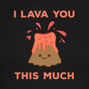 I Lava You This Much Cute Volcano - Men's Ringer T-Shirt
