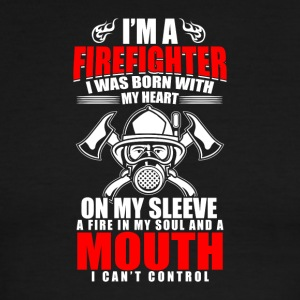 I'm A Firefighter With Heart And A Mouth - Men's Ringer T-Shirt