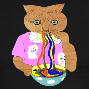Cat Colorful Noodle - Men's Ringer T-Shirt