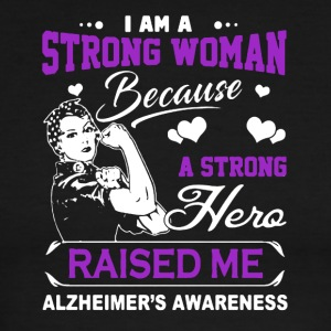 I Am A Strong Woman A Strong Hero Raised Me Shirt - Men's Ringer T-Shirt