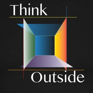 Think Outside the Box - Men's Ringer T-Shirt