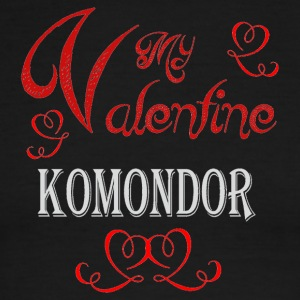 A romantic Valentine with my Komondor - Men's Ringer T-Shirt