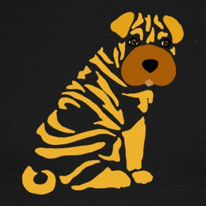 Funny Cute Shar Pei Puppy Dog Abstrat - Men's Ringer T-Shirt