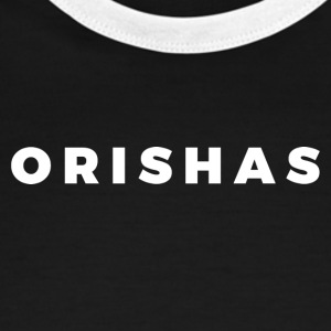 Orishas (Block White Letters) - Men's Ringer T-Shirt