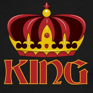 dark red gold king crown - Men's Ringer T-Shirt