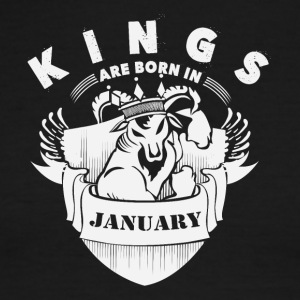 Kings are born in January - Men's Ringer T-Shirt