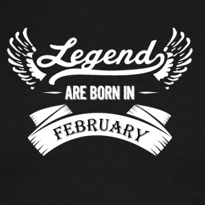 Legends are born in February - Men's Ringer T-Shirt