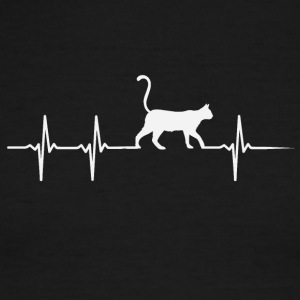 make a heartbeat design for Cats - Men's Ringer T-Shirt