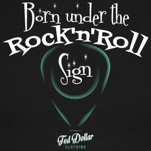 Born Under the Rock'n'Roll Sign_ - Men's Ringer T-Shirt